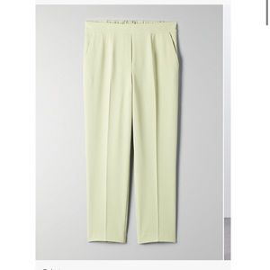 Aritizia Babaton Conan Pants in Pistachio Green